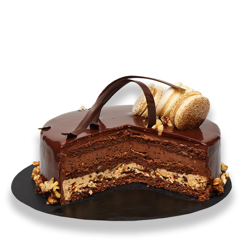 tort cioco nuci caramelizate
